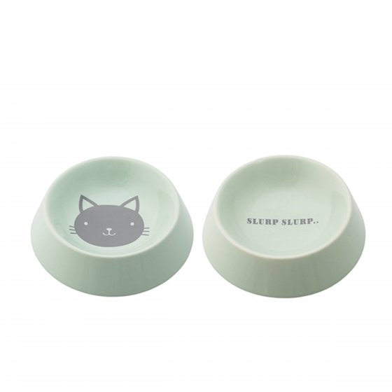 2 gamelles pour chat en céramique