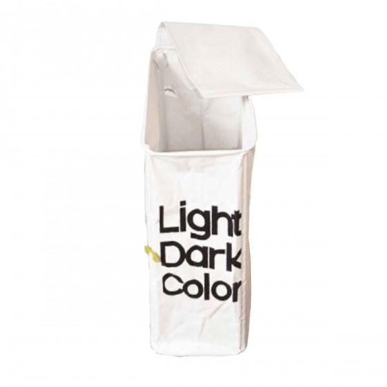 Panier à linge étroit blanc noir couleur
