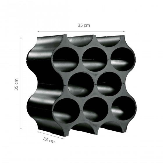 Casier à bouteilles noir design