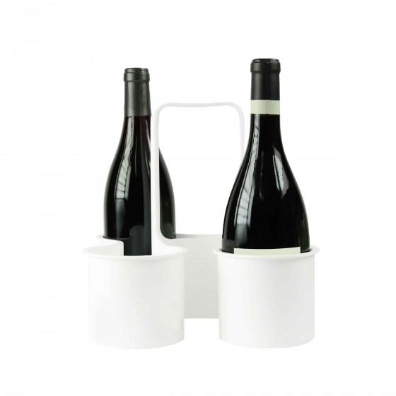 Panier bouteilles plastique blanc for Porte bouteille plastique panier