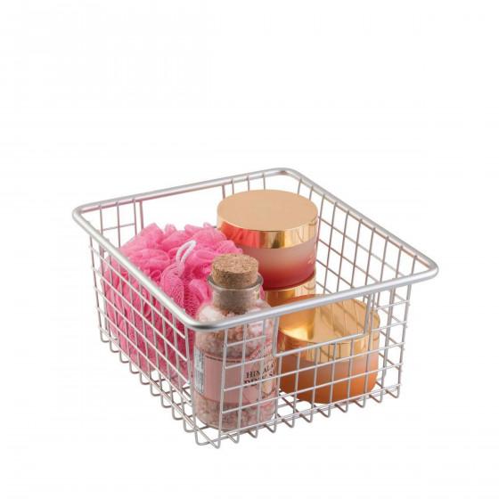 Panier métallique pour salle de bain (L)