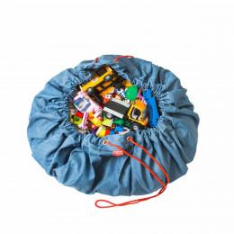 Tapis de rangement jouets en tissu jean