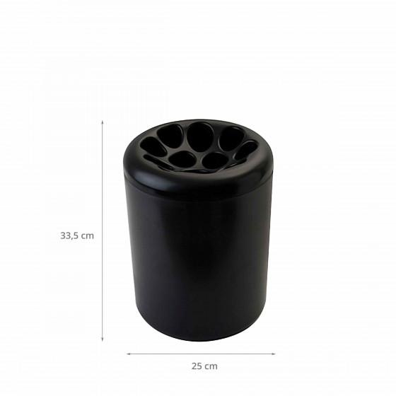Porte-parapluie design noir