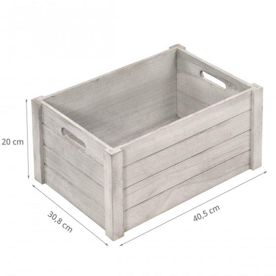 Cagette en bois grise. Taille L