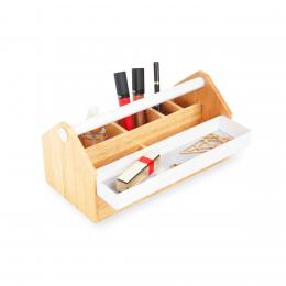 Rangement bijoux et maquillage en bois