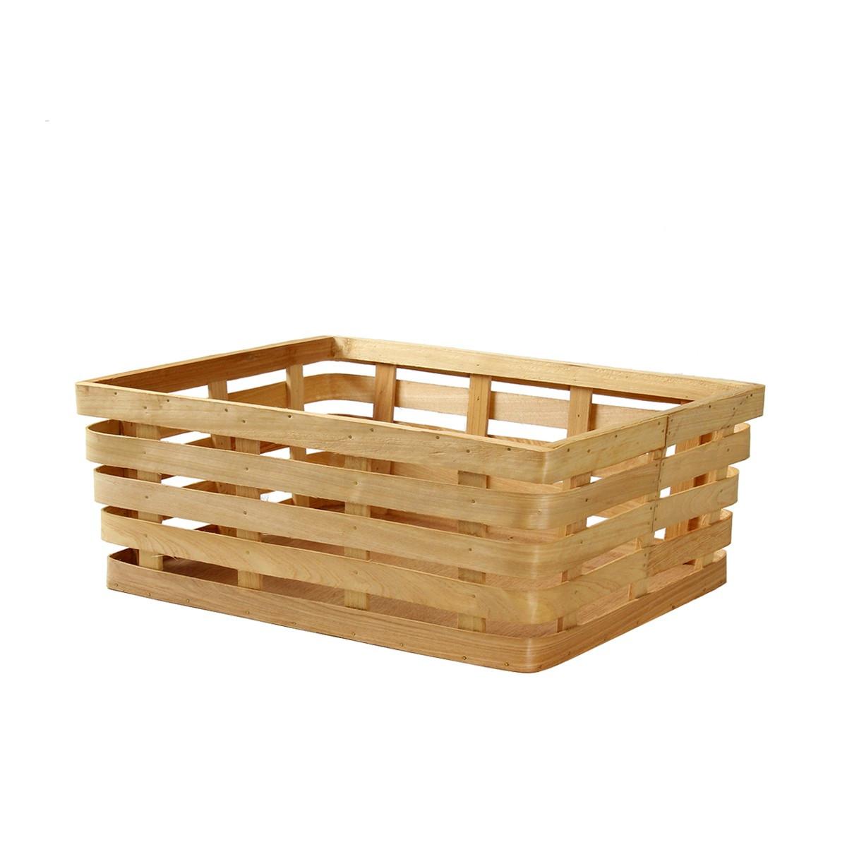 Panier en bois rangement placards cuisine for Panier rangement cuisine