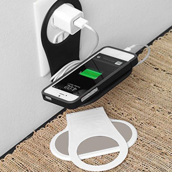 support pour chargeur de t l phone blanc. Black Bedroom Furniture Sets. Home Design Ideas