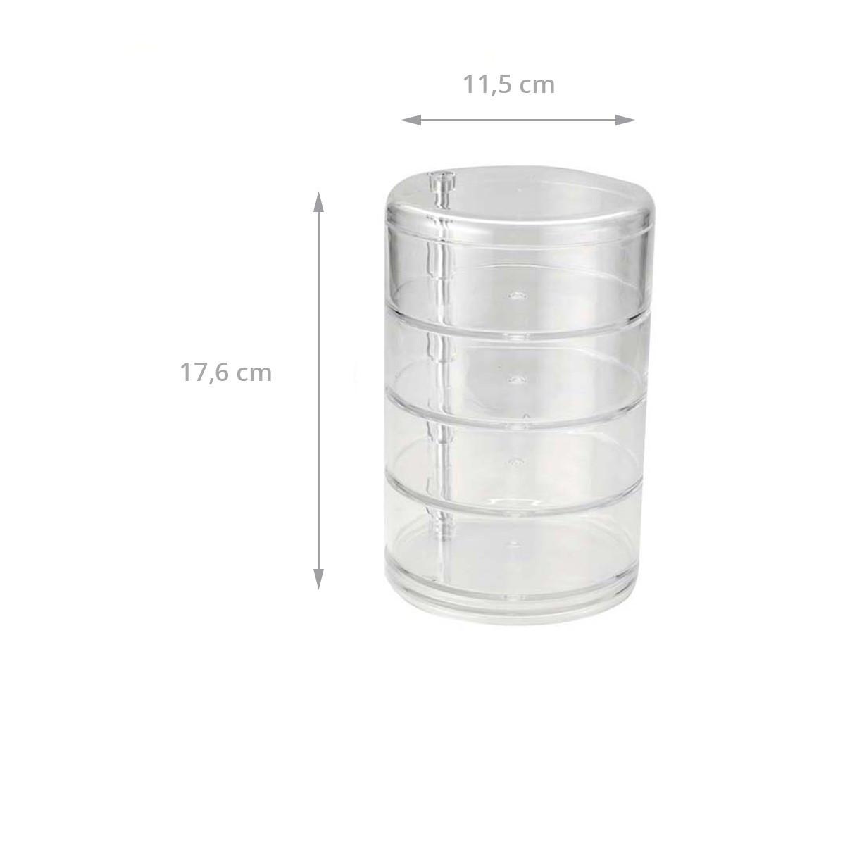 Bo te cylindrique en acrylique 4 niveaux - Boite acrylique transparente ...