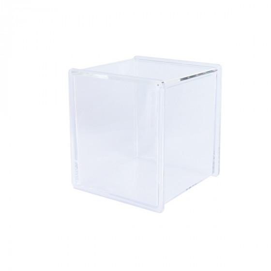 Boite cube acrylique transparent rangement - Boite de rangement maquillage acrylique ...
