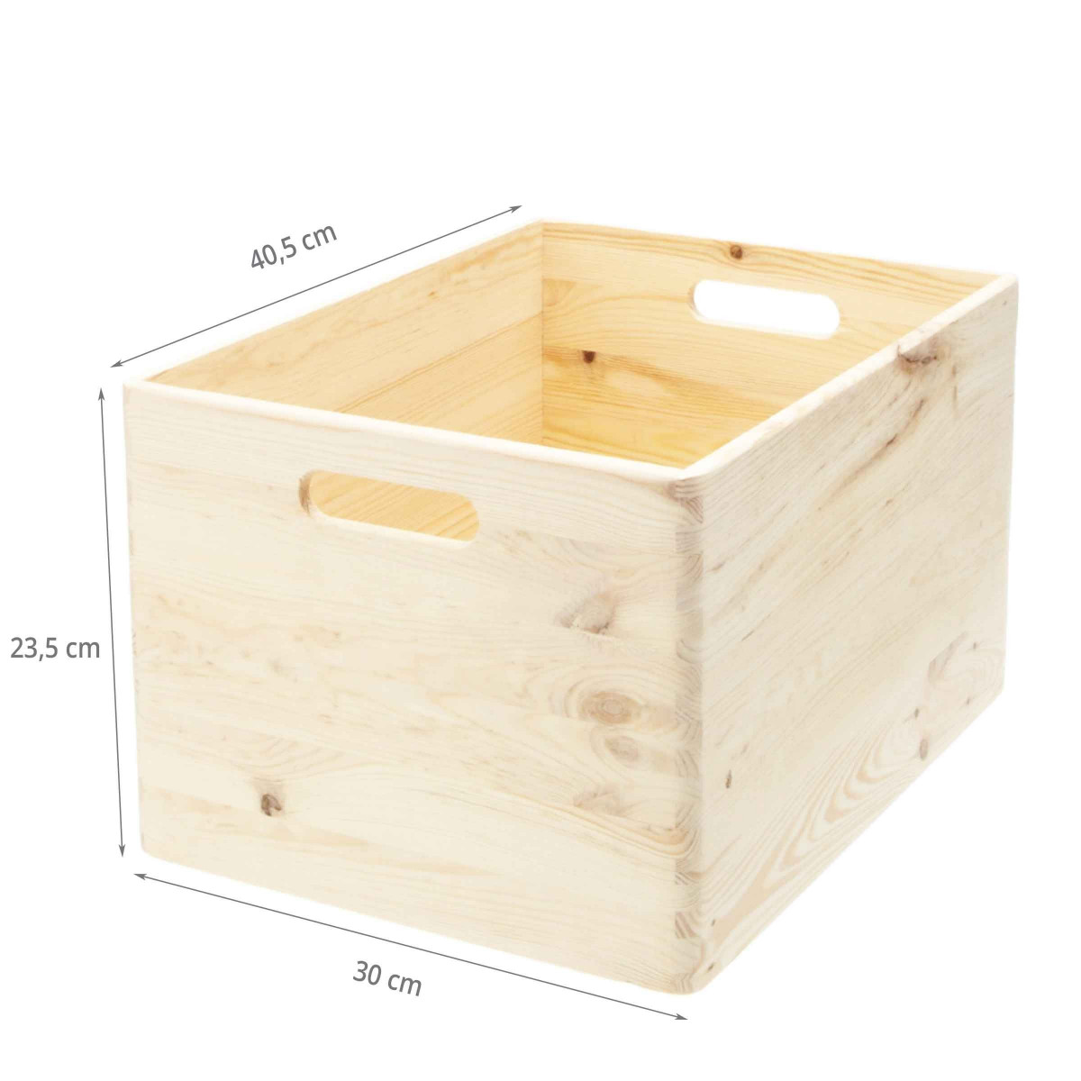 Caisse En Bois Pour Livre caisse de rangement en bois. taille l