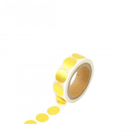 Masking tape doré à gros pois