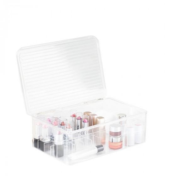 Bo Te Rangement Maquillage Compartiments Et Couvercle