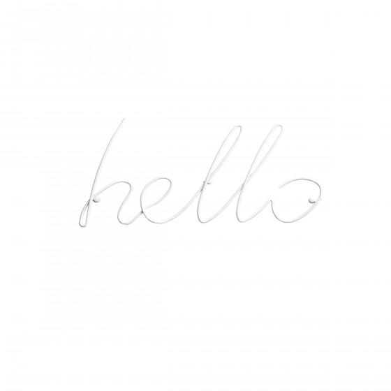 Patère blanche Hello