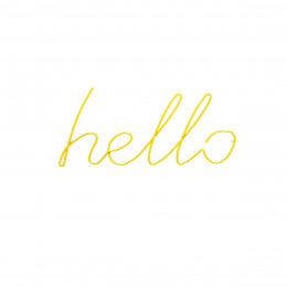 Patère jaune Hello