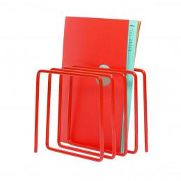 Porte-revues et courrier en métal rouge