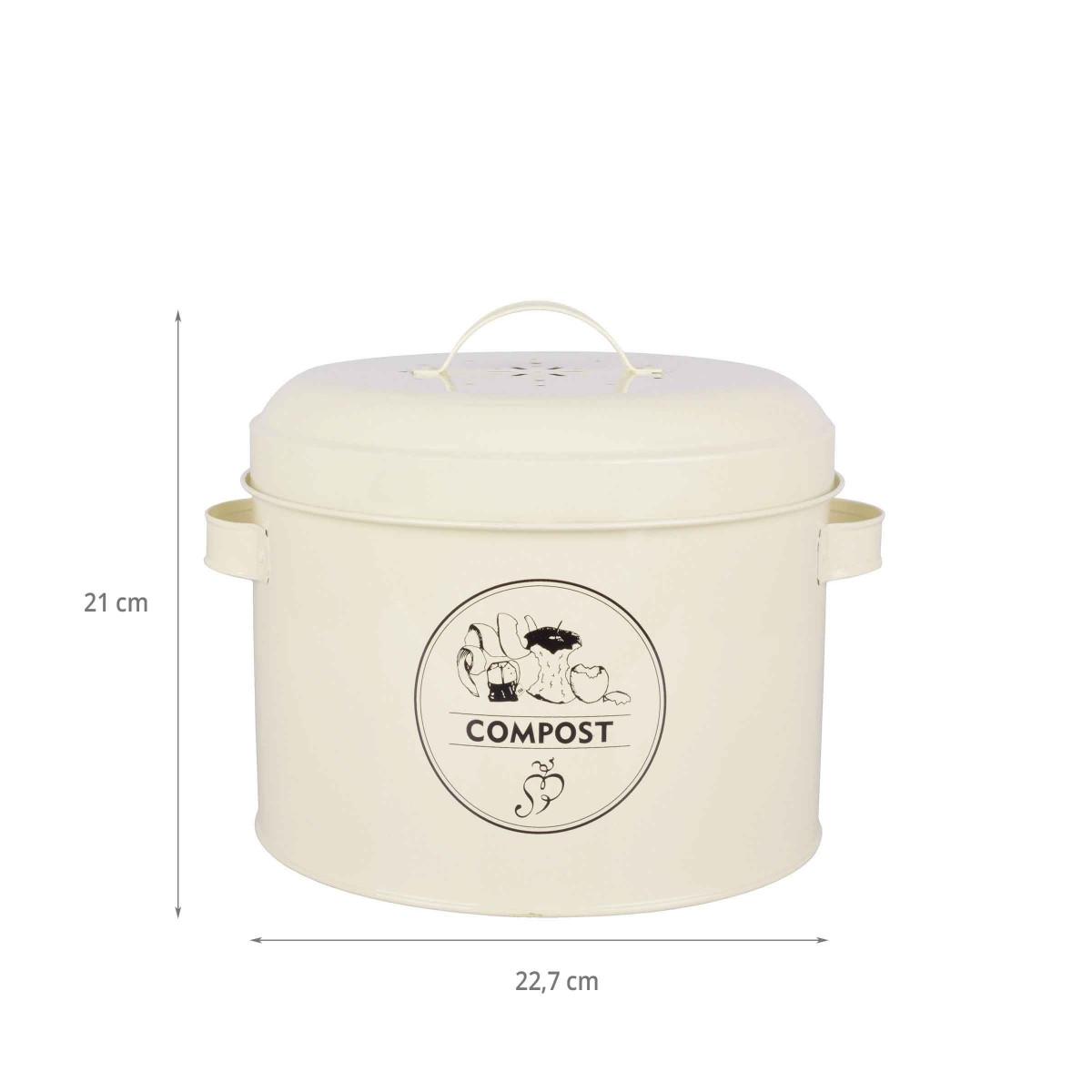 Seau compost avec filtre 6 3 litres - Seau a compost pour cuisine ...