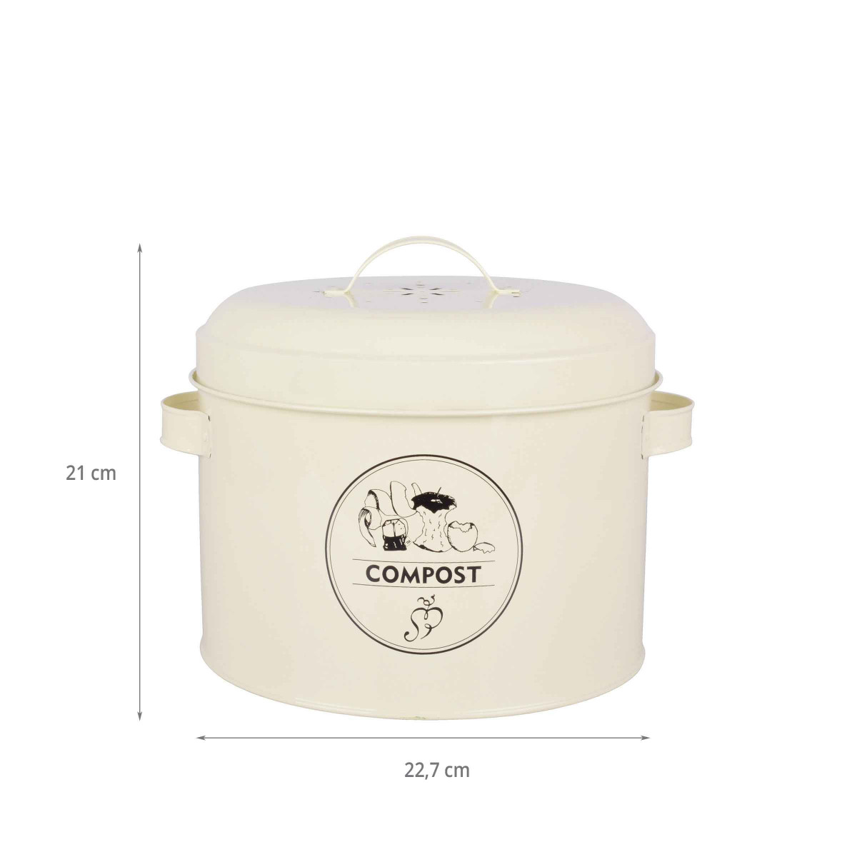 seau compost avec filtre 6 3 litres. Black Bedroom Furniture Sets. Home Design Ideas