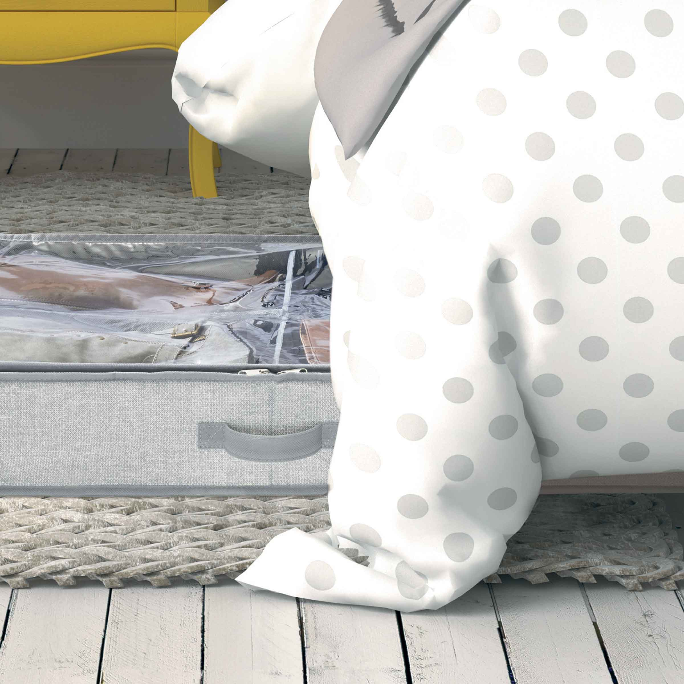 Housse de rangement sous le lit avec fenêtre en plastique transparent pour bottes