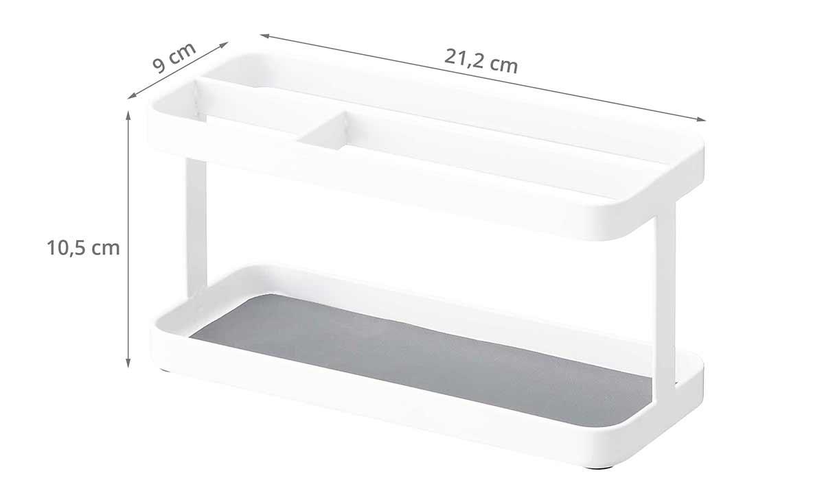 Vide poche design blanc rangement portables tablettes for Meuble vide poche design