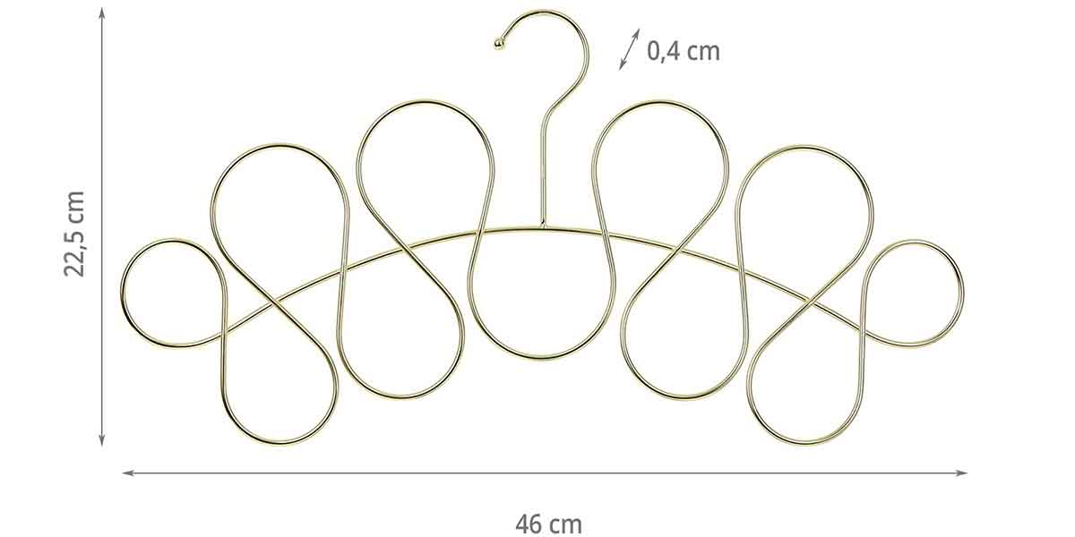 Dimensions du cintre à foulards