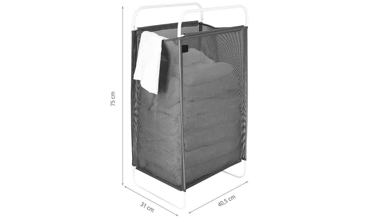 Dimensions du panier à linge transportable