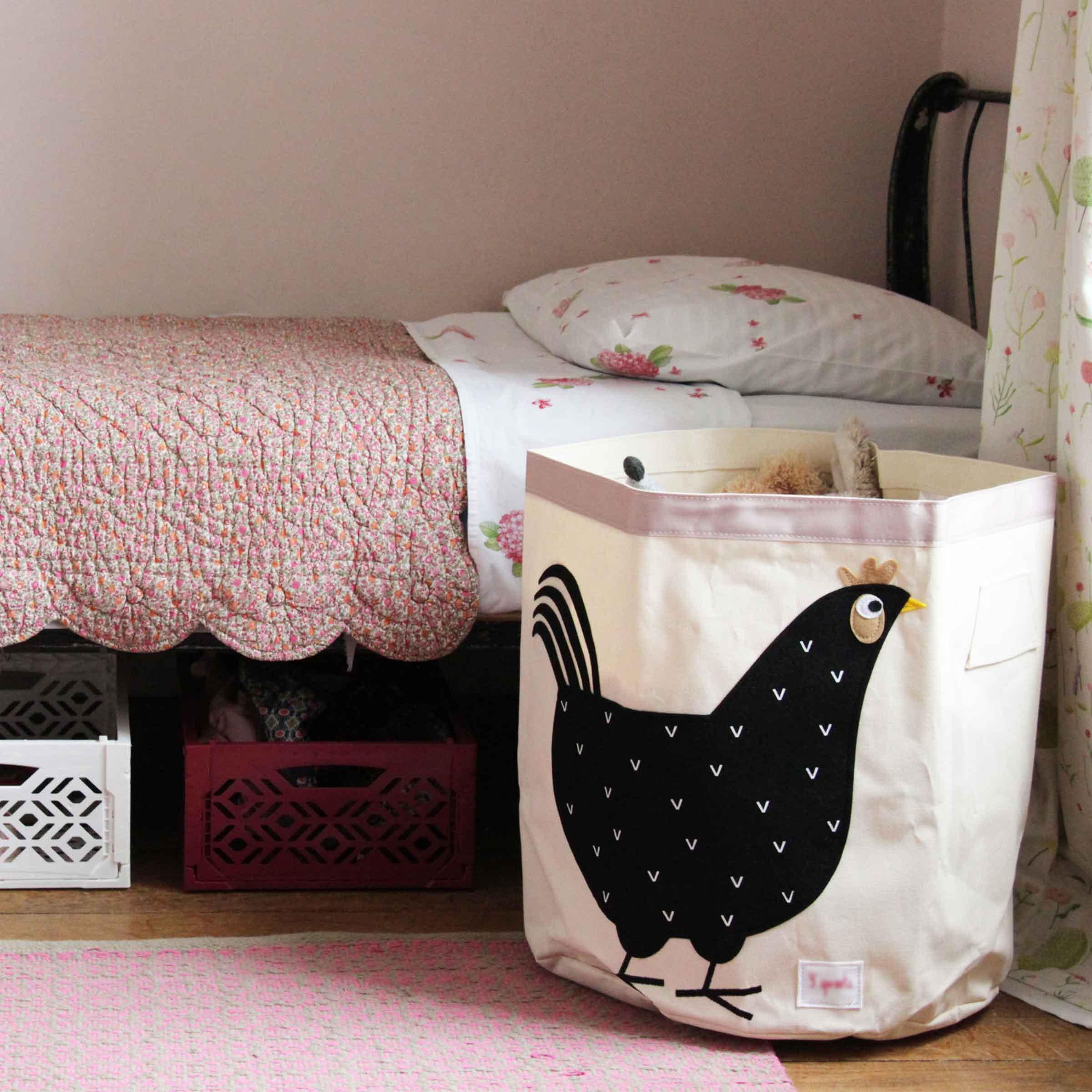 grand sac jouets motif poule. Black Bedroom Furniture Sets. Home Design Ideas