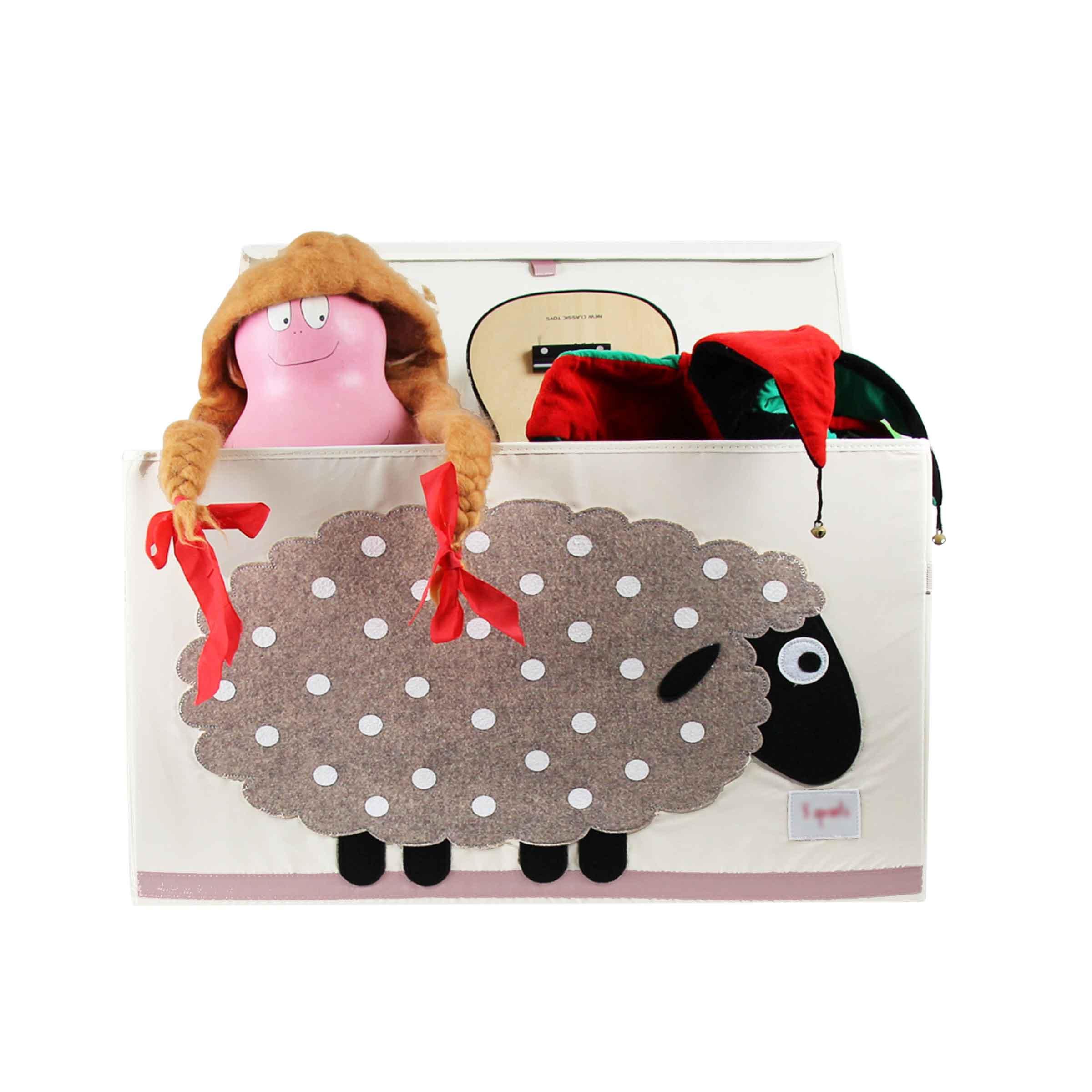 Malle de rangement en tissu pour jeux et jouets motif mouton