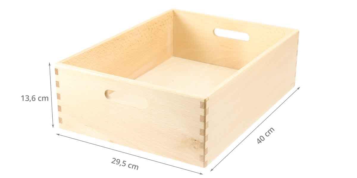 caractéristiques caisse en bois
