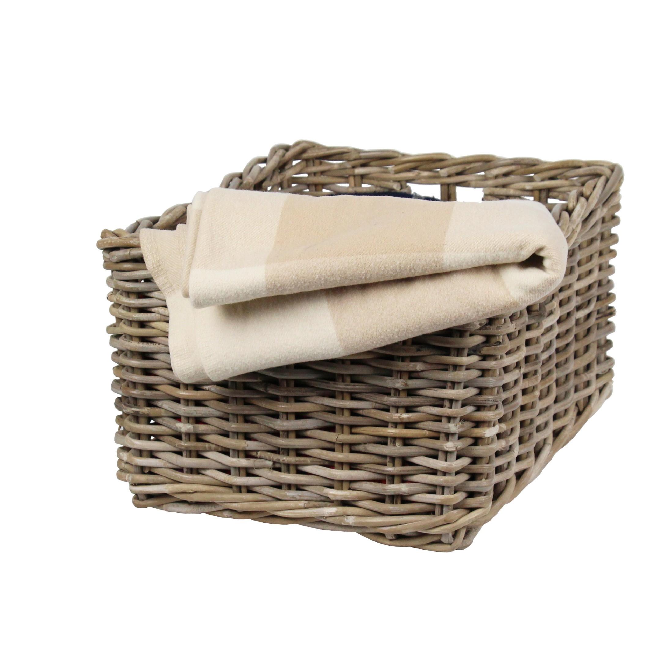 panier rectangulaire rotin rangement nappe. Black Bedroom Furniture Sets. Home Design Ideas