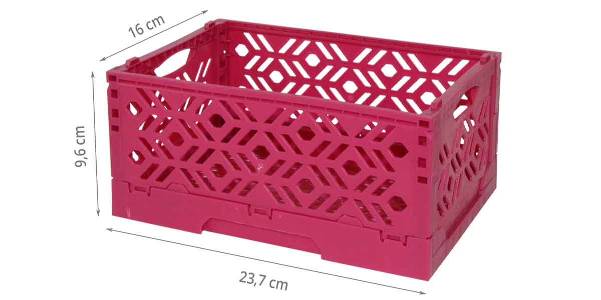 mini cagette violette empilable rangement jardin. Black Bedroom Furniture Sets. Home Design Ideas