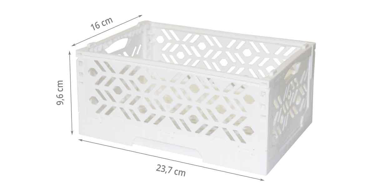 mini cagette blanche empilable et pliable rangement cuisine. Black Bedroom Furniture Sets. Home Design Ideas