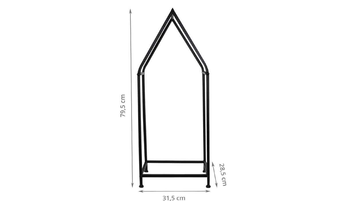 Dimensions de la maison en métal pour bûches