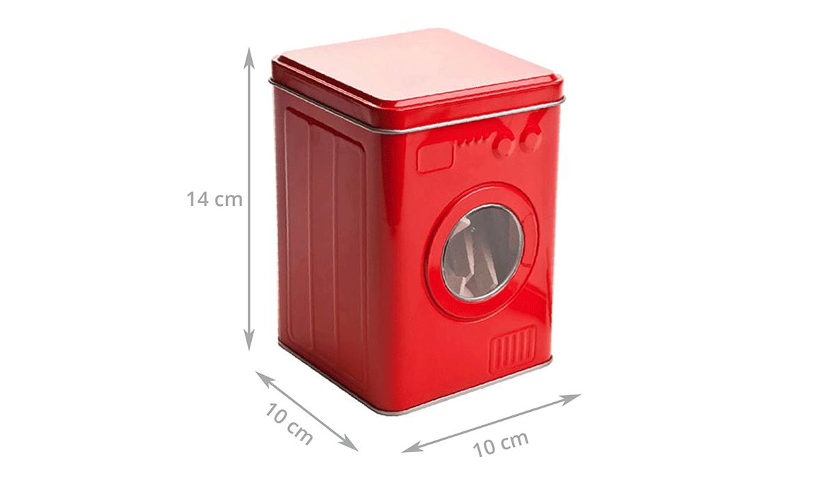 Rangement Machine À Laver boîte de rangement pour pinces à linge en métal rouge