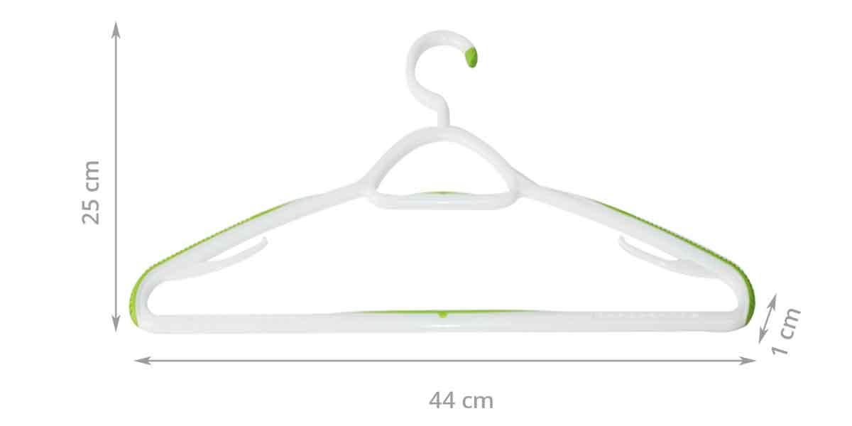 Dimensions du lot 2 cintres bimatière