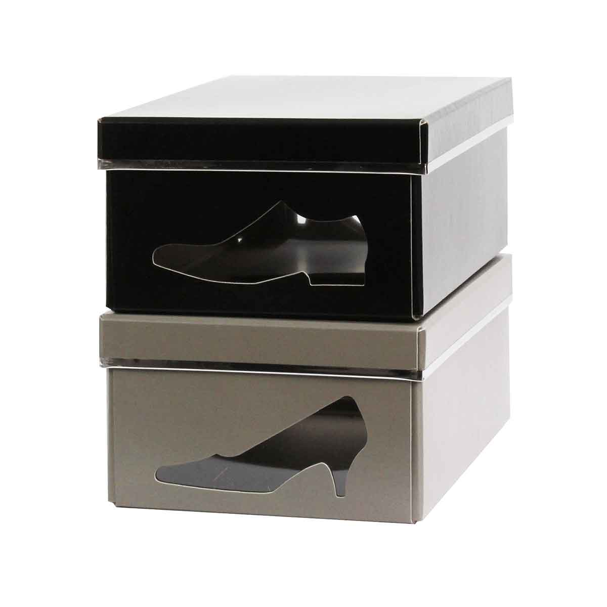 Bo te chaussures carton taupe rangement - Boite a chaussure en carton ...