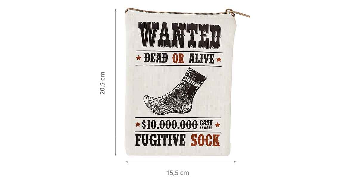 Dimensions des wanted fugitive socks