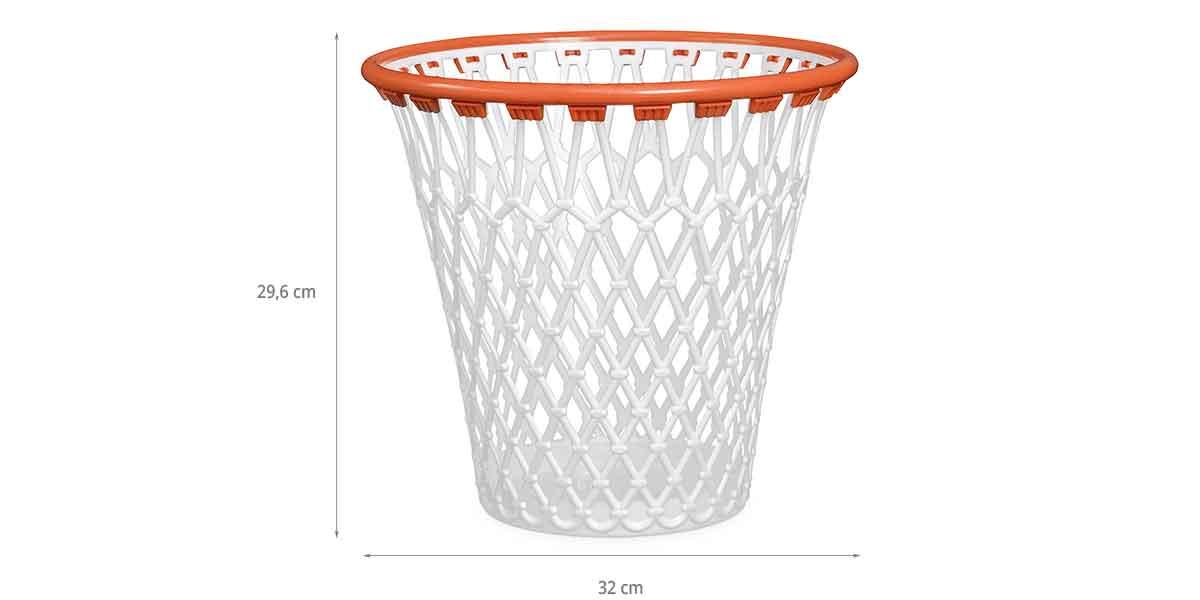 Dimensions de la corbeille à papier panier de basket