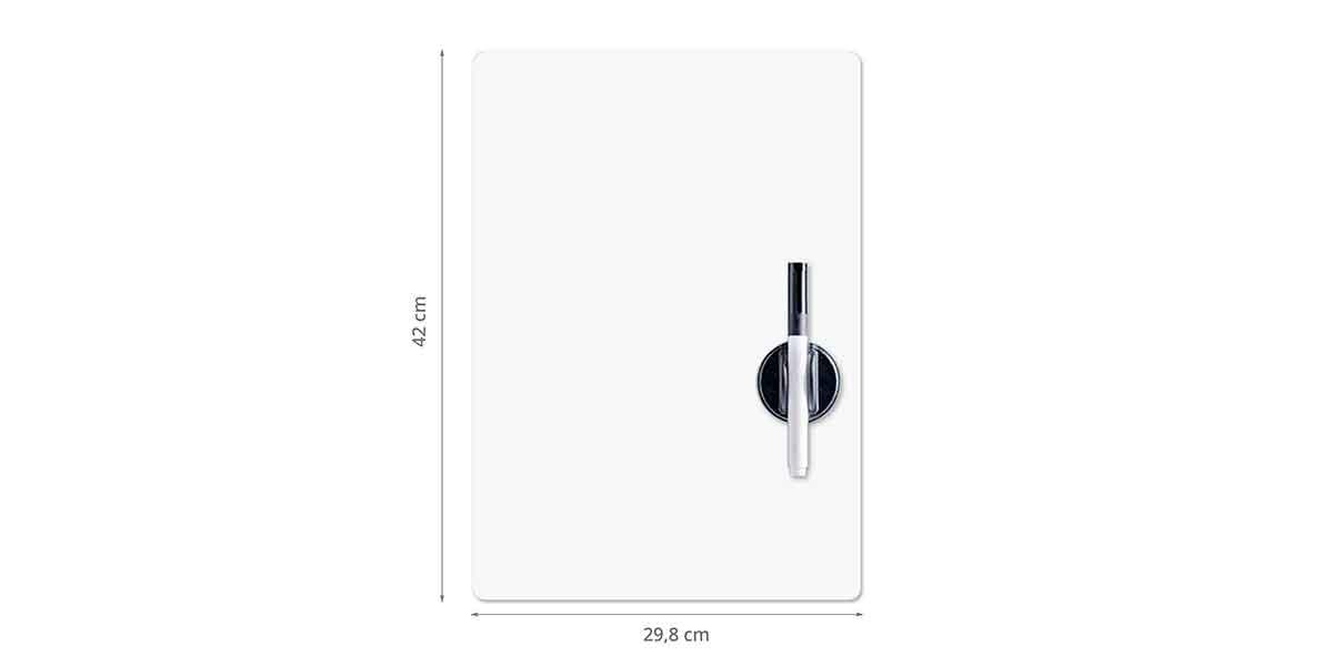 Dimensions du tableau magnétique blanc