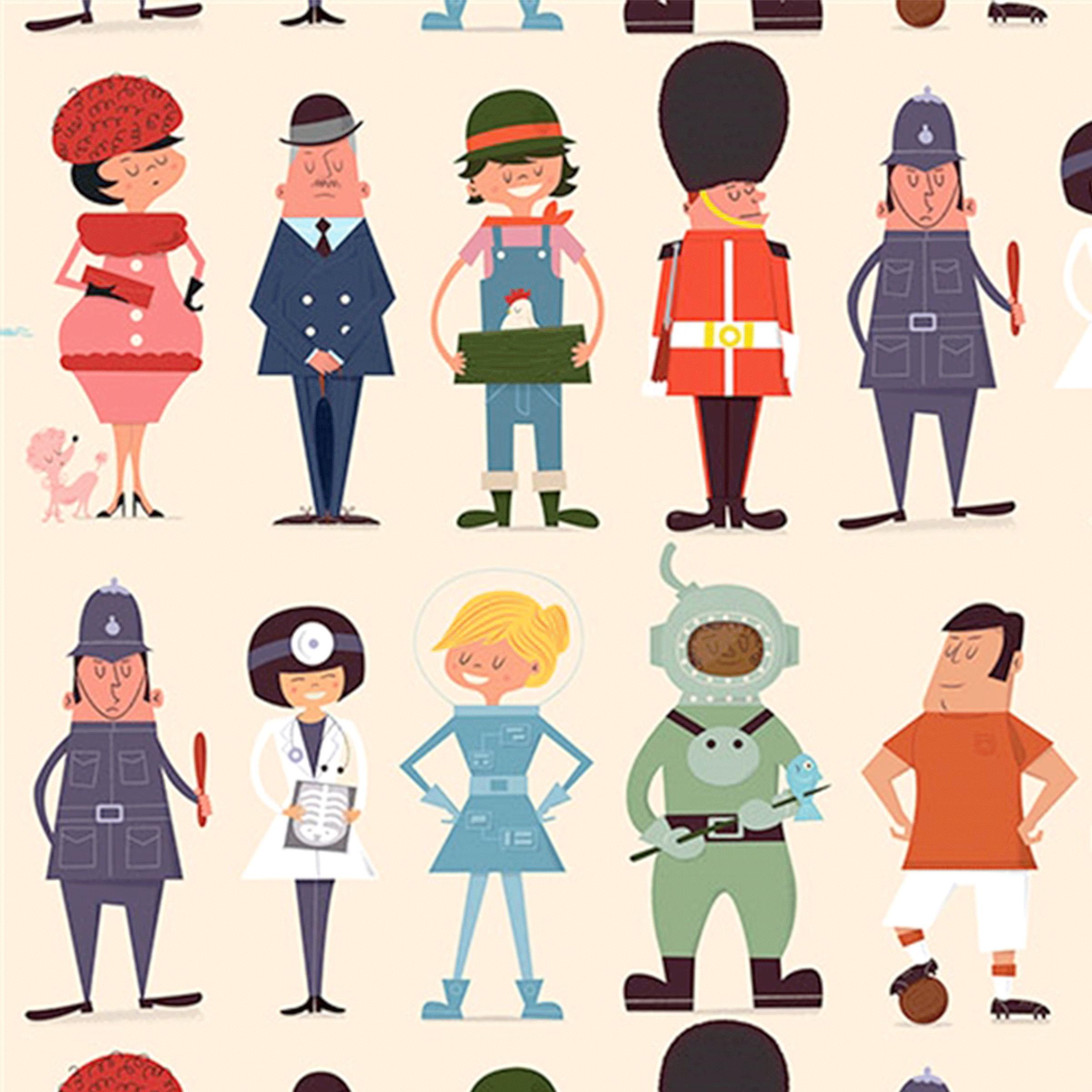 feuille de papier cadeau enfant motifs personnages