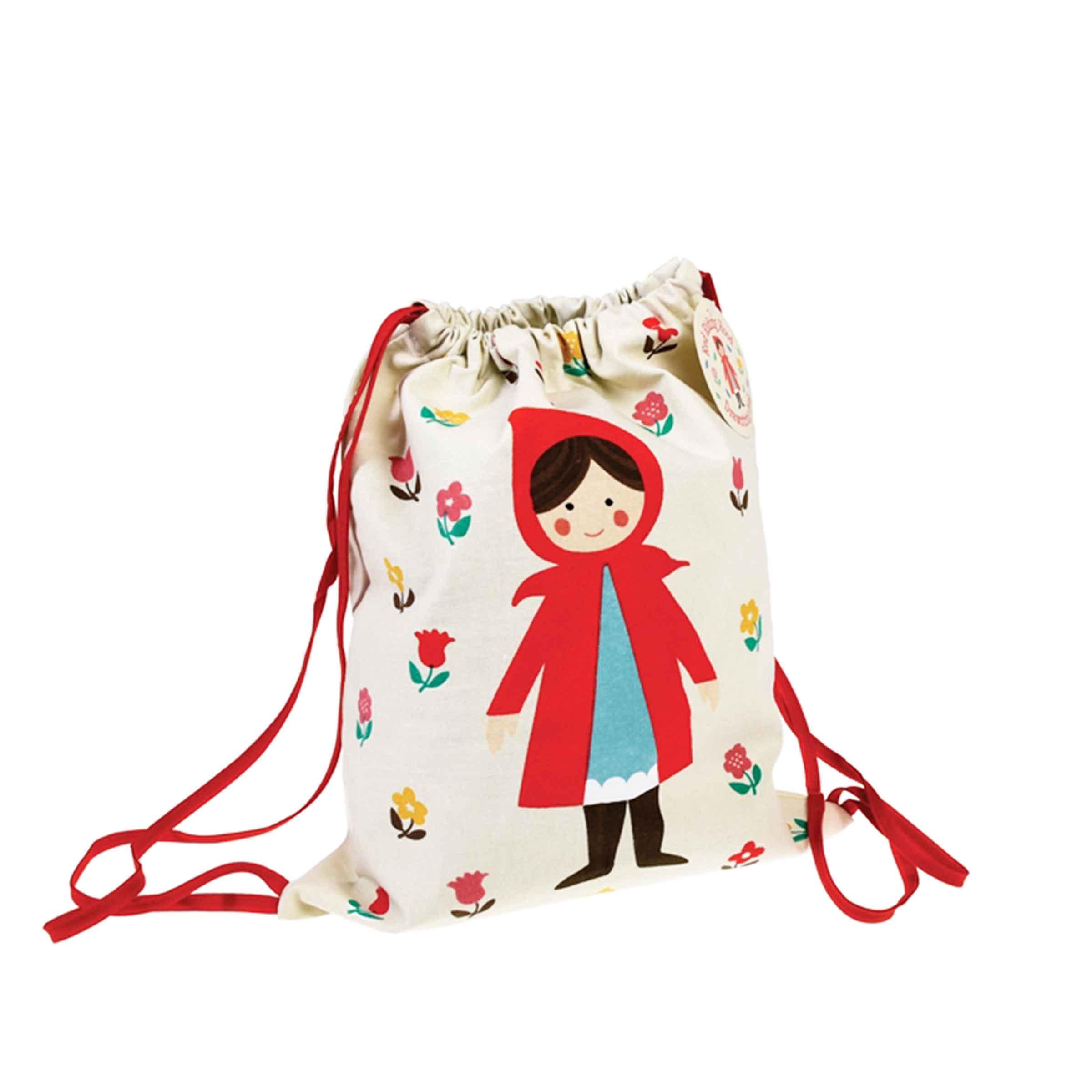 sac à dos en tissu pour enfant avec motif petit chaperon rouge