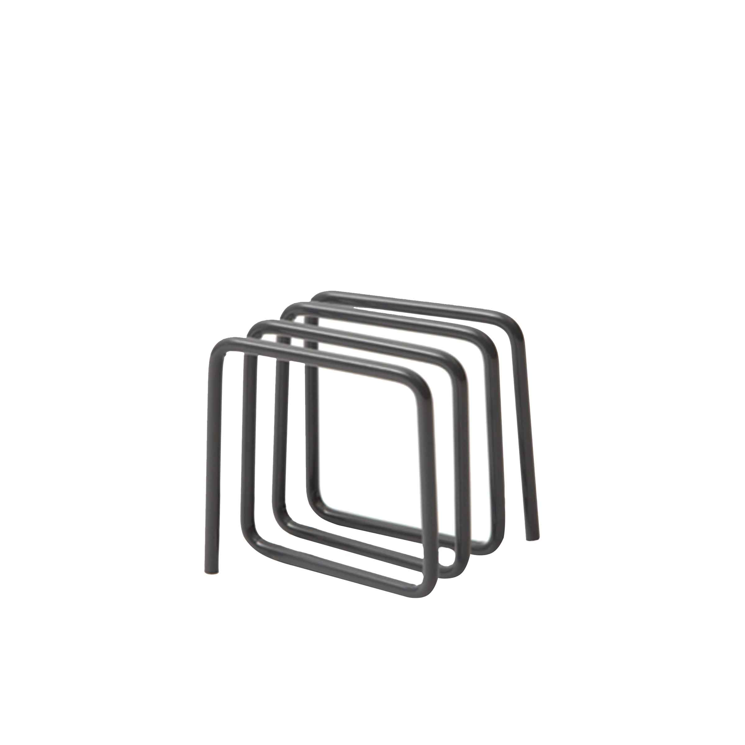 Porte-lettres design en métal gris noir