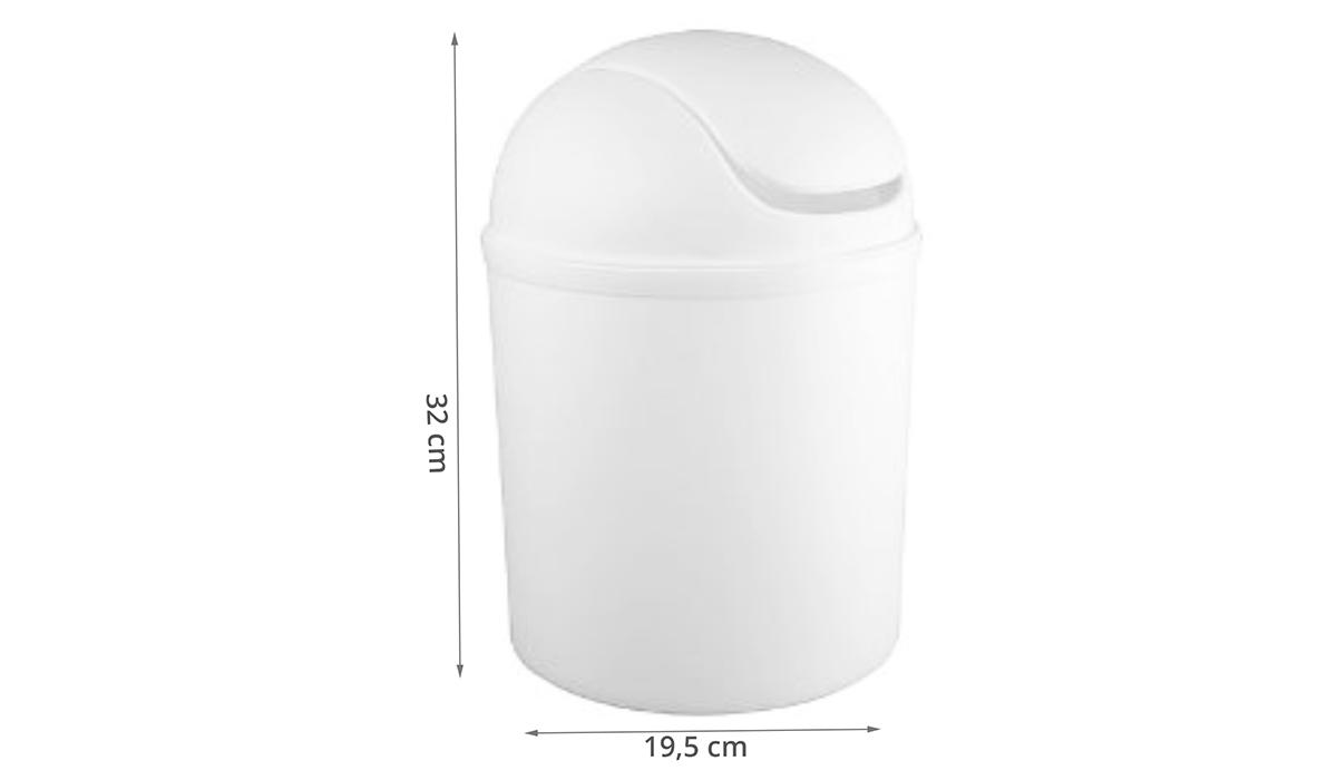 poubelle bascule 5 litres blanche. Black Bedroom Furniture Sets. Home Design Ideas