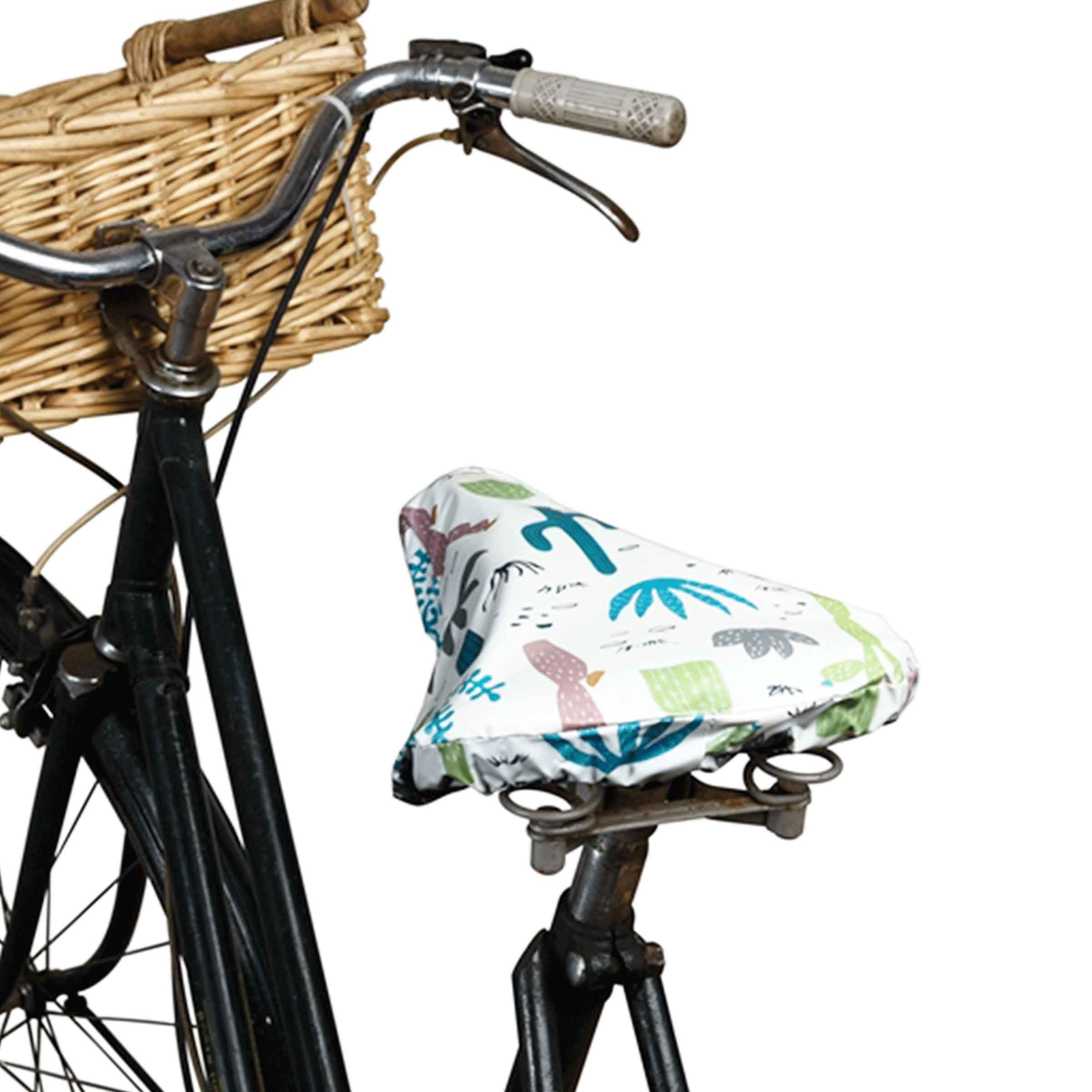 Housse de protection pour selle de vélo en plastique avec motifs cactus verts