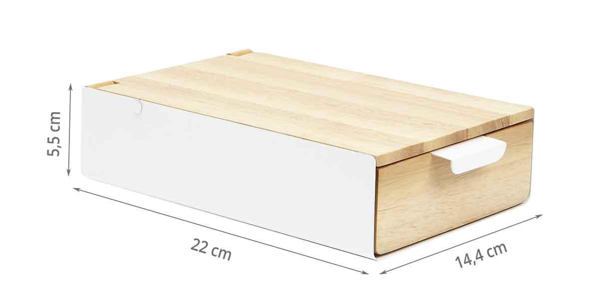 Dimensions de la boîte à bijoux
