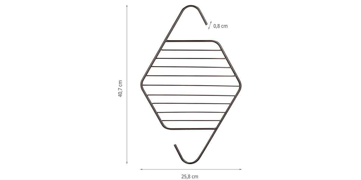 Dimensions du cintre pour cravates et ceintures