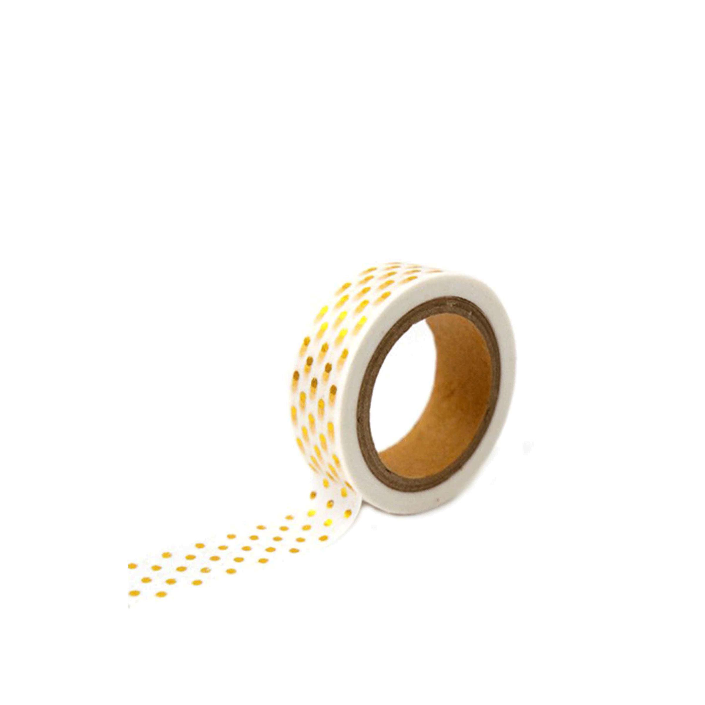 Ruban décoratif à petits pois dorés de 10 mètres