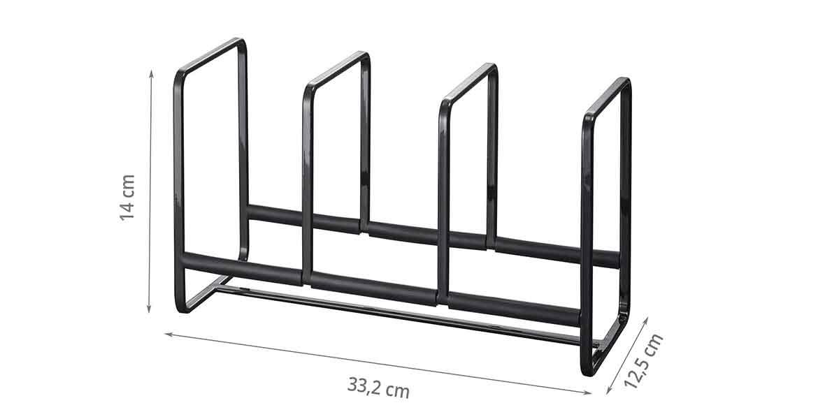 Dimensions du rangement vertical à 3 compartiments