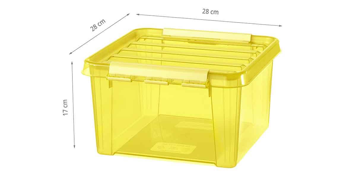 Dimensions de la boîte jaune