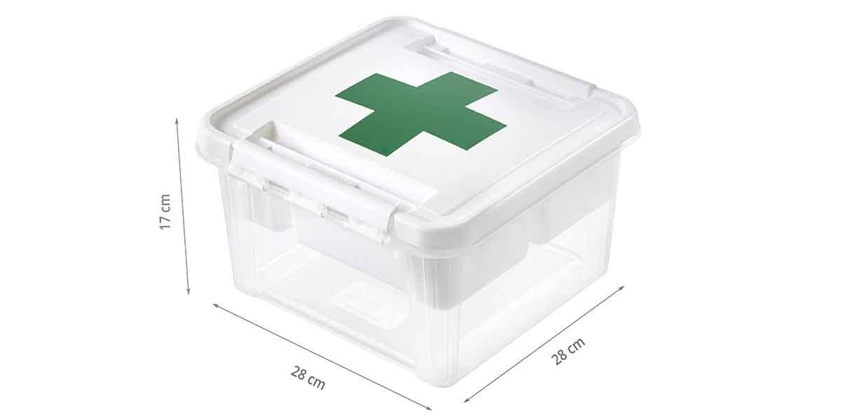 Dimensions de la boîte à pharmacie
