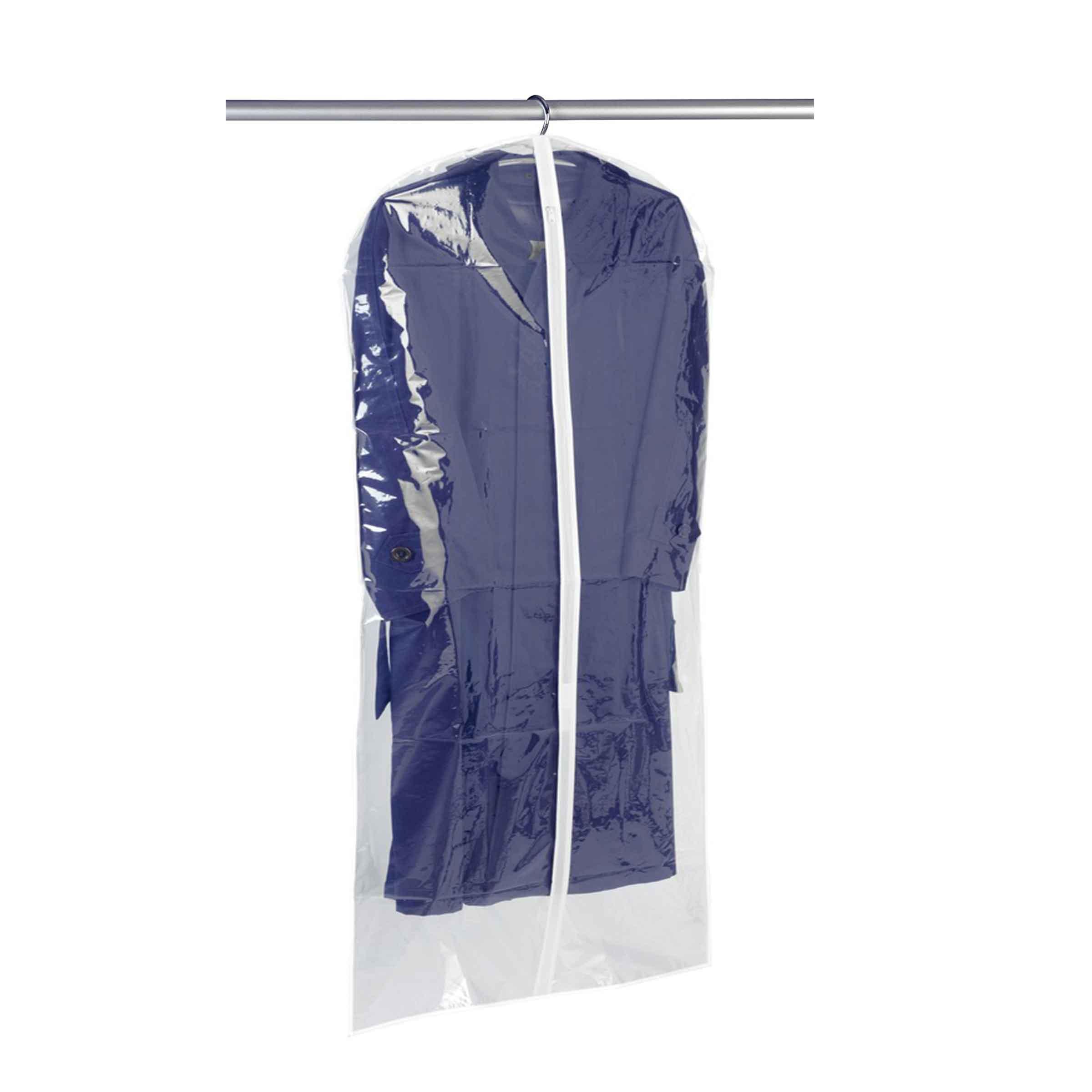 Housse pour grands vêtements à suspendre en plastique transparent